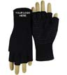 BLK-ICO-240 - Embroidered Fingerless Gripper Gloves