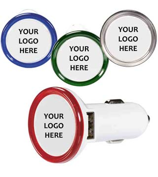 Round USB Car Charger