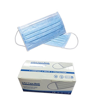 3-Ply Disposable Surgical Masks - Box of 50