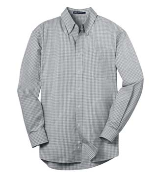 Plaid Pattern Easy Care Shirt